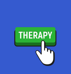 hand mouse cursor clicks the therapy button vector image