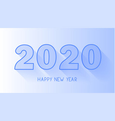happy new year 2020 line numbers with shadow vector image