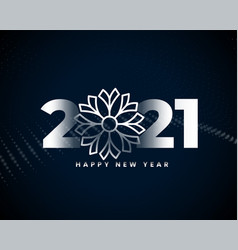 happy new year 2021 silver background design vector image