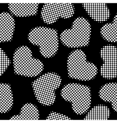 Hearts halftone vector