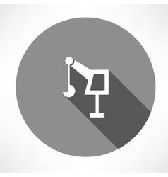 Hoisting crane icon vector