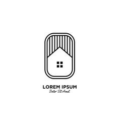 House home logo icon line outline monoline vector