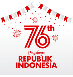 Indonesia independence day logo concept vector