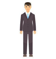 isolated cartoon character businessman dresscode vector image