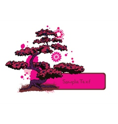 Japanese frame with tree vector