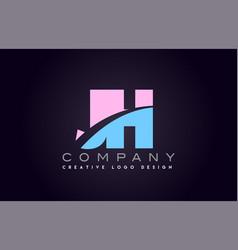jh alphabet letter join joined letter logo design vector image