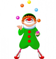 jjuggling clown vector image