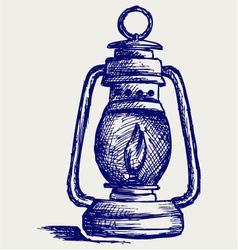 Kerosene lamp vector image