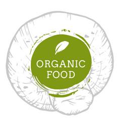 Label champignon mushroom fresh natural eco food vector