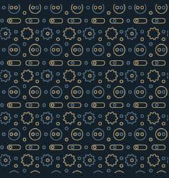 machine gone mad pattern seamless design vector image