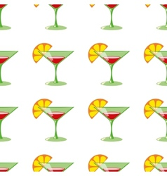 Martini seamless pattern vector image