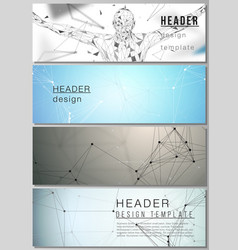 minimalistic editable layout of headers vector image