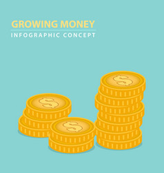 money coins concept vector image