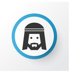 muslim icon symbol premium quality isolated human vector image