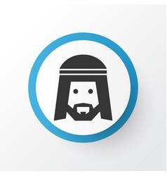Muslim icon symbol premium quality isolated human vector