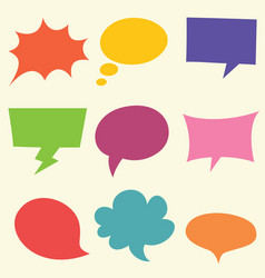 of speech bubbles vector image