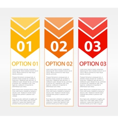 One Two Three Text Blocks vector