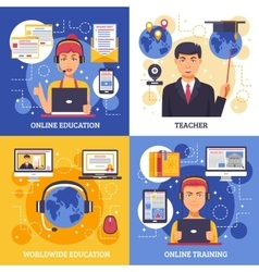 Online education training design concept vector