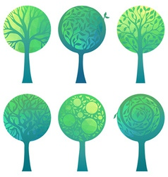 Ornate geometric trees vector