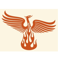 Phoenix bird vector image