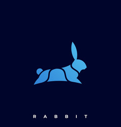 rabbit jump template vector image
