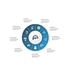 Recruitment infographic 10 steps circle design vector