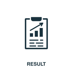 Result icon simple element from consulting vector