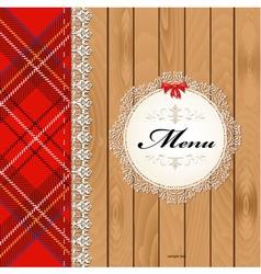 Scottish menu vector image