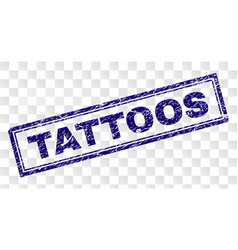 Scratched tattoos rectangle stamp vector