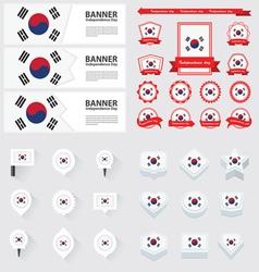 SET Korea South vector image