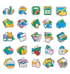 Set of cartoon icon 3 vector image