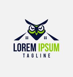 simple and unique design owl vector image