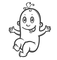 smiling baby vector image