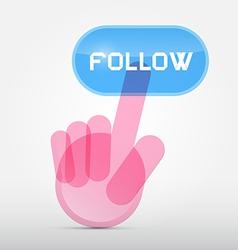 Social Media Symbol - Hand Icon Pushing vector image