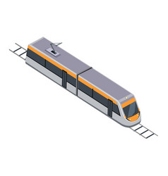Subway train high speed inter-city commuter vector