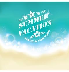 Summer marine background vector