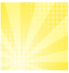 Sunny yellow striped retro comic background vector