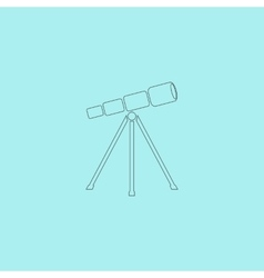 Telescope icon vector image