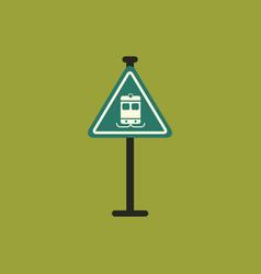 tram traffic sign vector image
