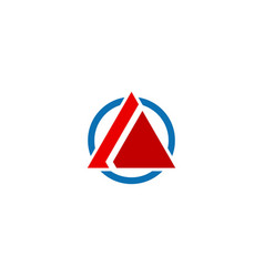 triangle shape business company logo vector image