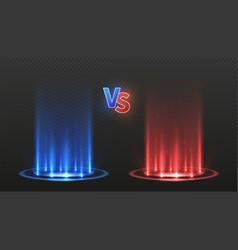 Vs battle flooring versus action game vector