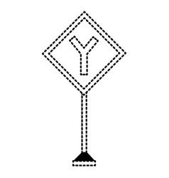 Warning road signs design vector