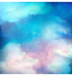 Watercolor Sky Painting Background vector image