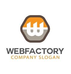 Web Factory Design vector image