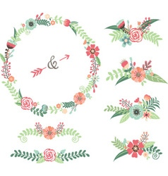 Wedding Flower Elements vector image