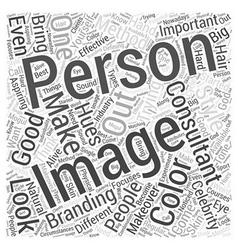 What makes a good image consultant Word Cloud vector