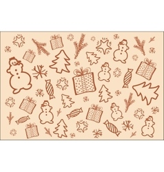 Winter background in brown tone vector image vector image