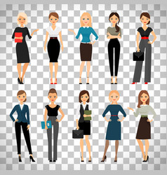 Women in office clothes vector