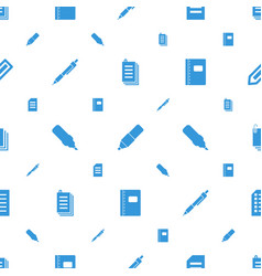 writing icons pattern seamless white background vector image
