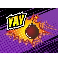 Yay Retro Comic Speech Bubble Cartoon vector image